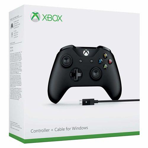 Controle Sem Fio Xbox One Newest Preto + Cabo USB - Microsoft