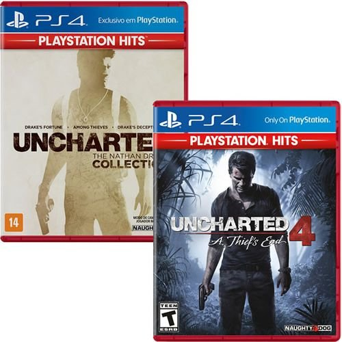 Combo Playstation Hits Uncharted Collection + Uncharted 4 - PS4