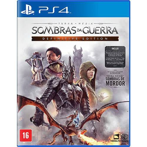 Game Terra Média Sombras da Guerra Definitive Edition - PS4