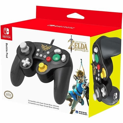 Controle com Fio Battle Pad Hori The Legend of Zelda Breath of The Wild - Switch