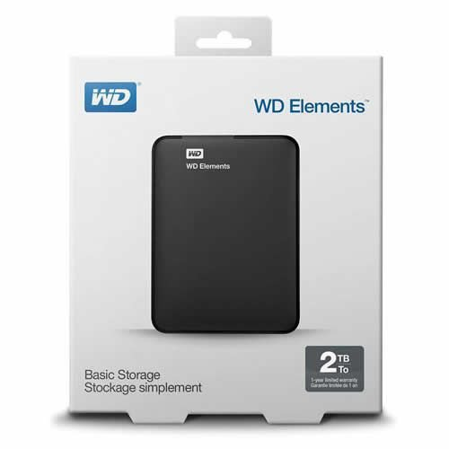 HD Externo 2TB WD Elements - Western Digital