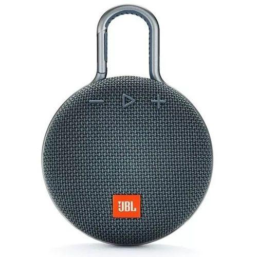 Caixa de Som JBL Clip 3, Bluetooth, À Prova D´Água, 3W, Cinza - JBL