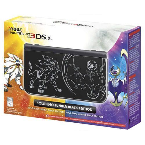 Console New Nintendo 3DS XL Solgaleo Lunala Black Edition - Nintendo