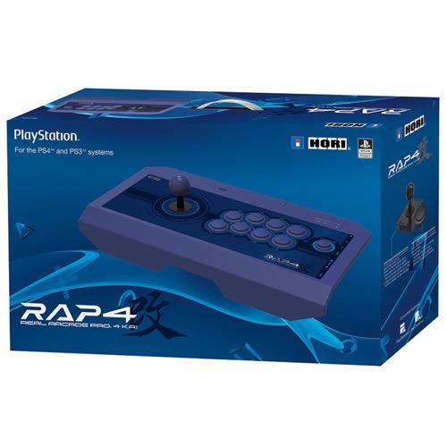 Controle Real Arcade Pro Kai 4 Azul PS4 - Hori