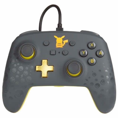 Controle Com Fio PowerA Pikachu Grey - Switch