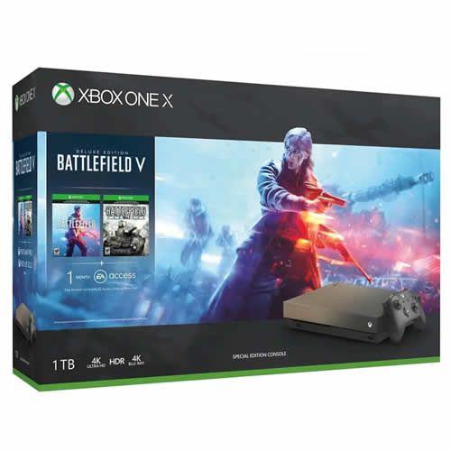 Console Xbox One X 1TB Gold Rush Battlefield Bundle - Microsoft
