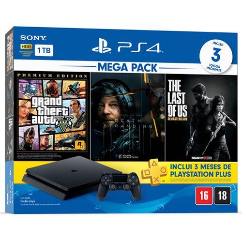Console PS4 1TB Slim Mega Pack Hits 9 - Sony