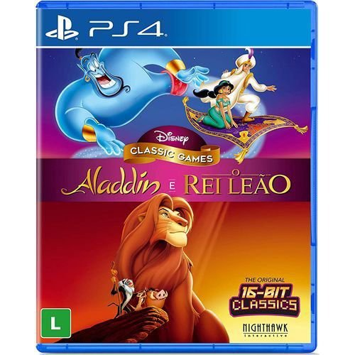 Game Aladdin e O Rei Leão - PS4