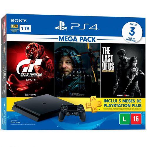 Console PS4 1TB MegaPack CUH2214B - Sony