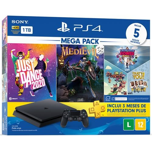 Console PS4 1TB Slim Mega Pack Hits 11 - Sony