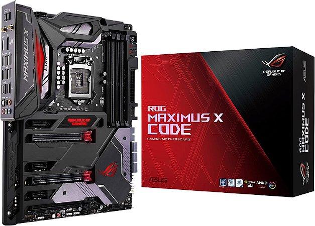 ASUS ROG Maximus X Code S LGA1151 DDR4 DP HDMI M.2 Z370 ATX Motherboard - [Seminovo]