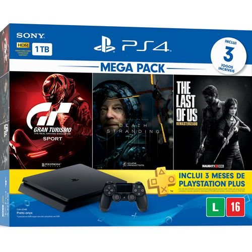 Console PS4 1TB Slim Mega Pack Hits 10 - Sony