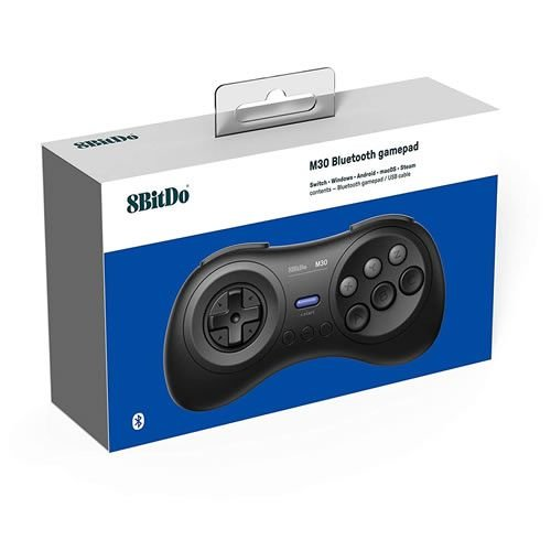 Controle 8Bitdo Bluetooth M30 - Switch , Windows , MacOS , Android 8 - Preto