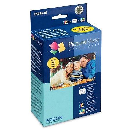 Kit Epson T5845 PictureMate – Cartucho + 100 Fotos Fosco 10x15