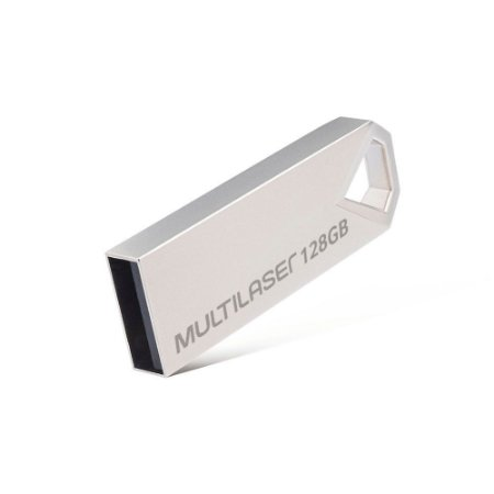 Pen Drive 128gb Multilaser Diamond Metálico - Pd853