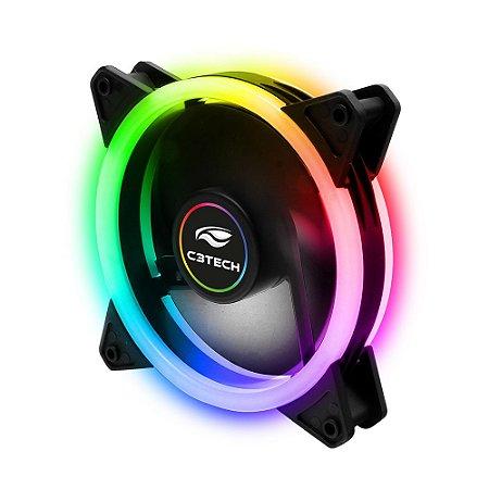 Cooler Fan ARGB Com Anel De LED Duplo - C3Tech F7-L210RGB