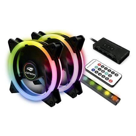 Kit Cooler Fan Com LED RGB - F7-L600 C3Tech