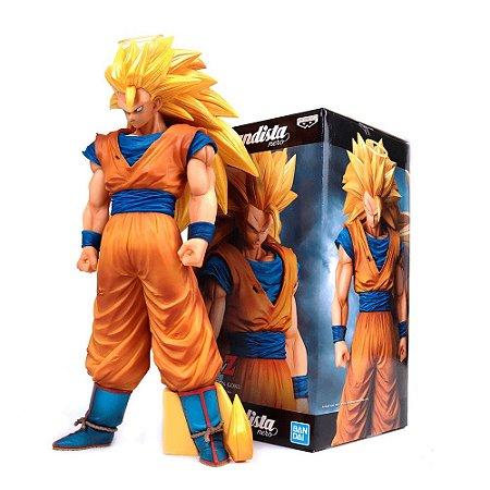 Action Figure Son Goku Super Sayajin 3 Dragon Ball Z – Grandista Nero - Bandai Banpresto