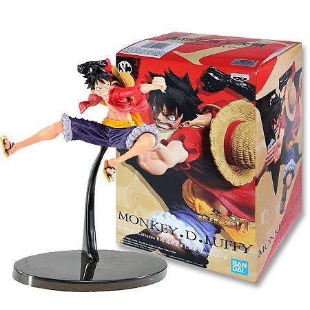 Action Figure One Piece – Monkey D Luffy (Chapéu de Palha) – Scultures Colosseum - Bandai Banpresto