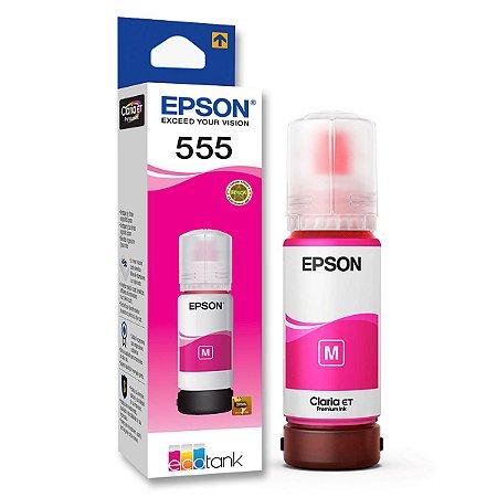Tinta Original Refil Epson 555 Magenta 70ml - T555320