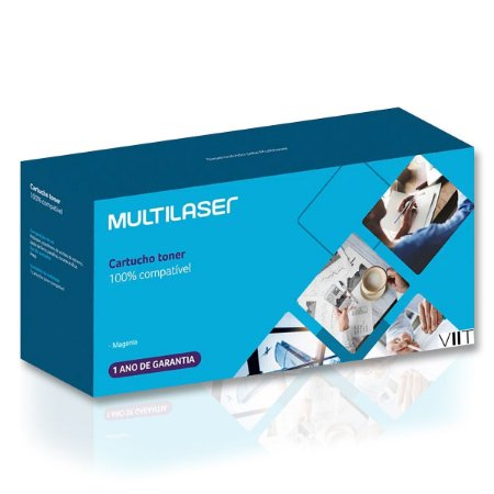 Cartucho Toner Compatível Hp 125a 128a 131a Magenta - Multilaser Ct007