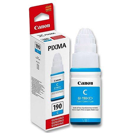 Refil de Tinta Original Canon Pixma GI – 190 Ciano 70ml