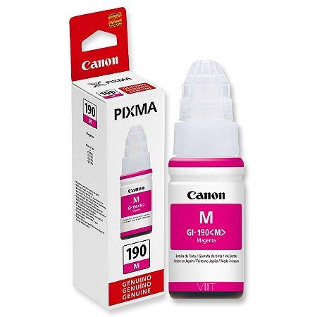 Refil de Tinta Original Canon Pixma GI – 190 Magenta 70ml