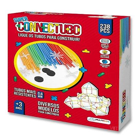 Brinquedo Educativo – Super Connectubo 238pcs 6mm Multikids BR1399