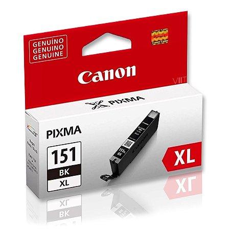 Cartucho de Tinta Canon CLI 151 XL Preto Original 11ml