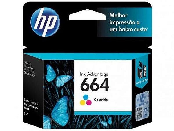 CARTUCHO DE TINTA HP 664 2ML F6V28AB TRICOLOR