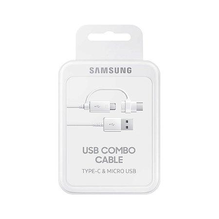 Cabo De Dados Carregador Usb-C E Micro Usb Original Samsung Ep-Dg930d Tipo B/C