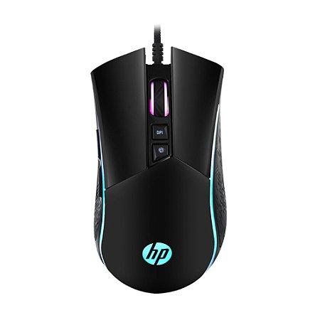 Mouse Gamer Hp 7 Botoes 4800 Dpi M220 Com Led 1QW51AA Preto