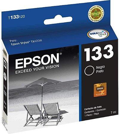 Cartucho de Tinta Epson 133 Original T133 Preto 7ml