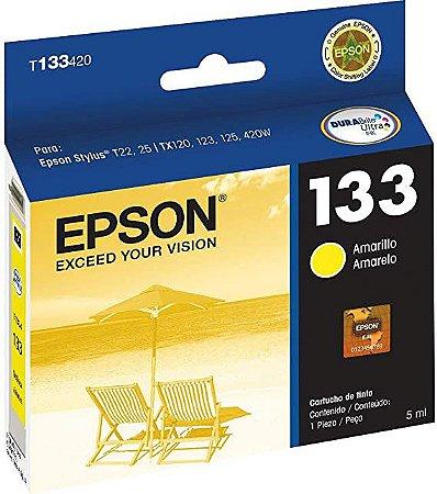 Cartucho de Tinta Epson 133 Original T133 5ml - Amarelo