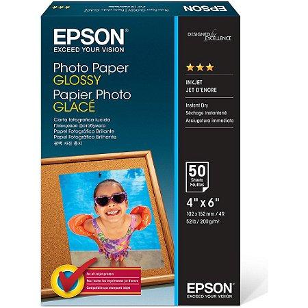 Papel fotográfico Epson 10x15cm 200g brilhante C13S042547 50 Folhas