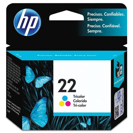 Cartucho De Tinta Hp 22 C9352ab Tricolor 6ml