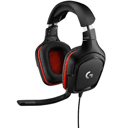Headset Gamer Logitech G332, Stereo, Drivers 50 mm, Multi-Plataforma com Adaptador Y - 981-000755