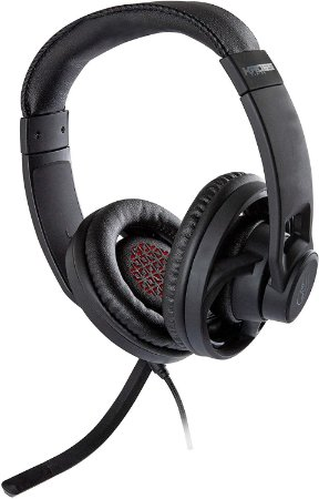 Headset Gamer Kross KE-HS100, Elegance, Stereo, Drivers 40 mm, Multi-Plataforma com Adaptador Y