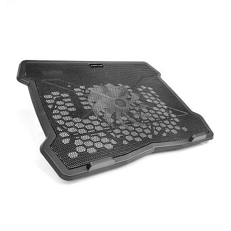 Base Para Notebook até 14″ Com Cooler 2 Posições - C3tech Exaustor - Preto