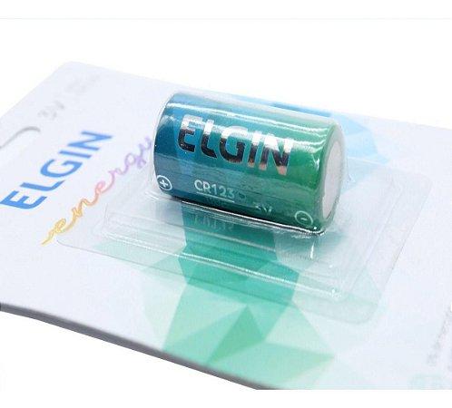 Bateria Elgin Lítio Cr123 3v Unidade 82316