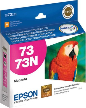Cartucho de Tinta Epson 73 T073320 5ml Original T073 - Magenta