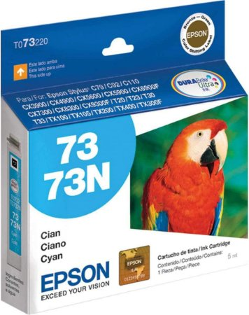 Cartucho de Tinta Epson 73 T073220 5ml Original T073 - Ciano