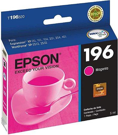Cartucho De Tinta Epson 196 T196320 4ml Original T196 - Magenta