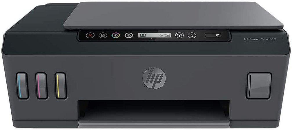 Impressora Multifuncional HP Smart Tank 517 Tanque de Tinta Colorida Wi-Fi Bivolt