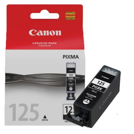 Cartucho de Tinta Canon PGI 125 19ML Original Preto 125