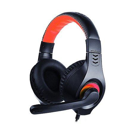 Headset USB com fio C3 TECH PH-350BK Com Microfone Integrado - Preto