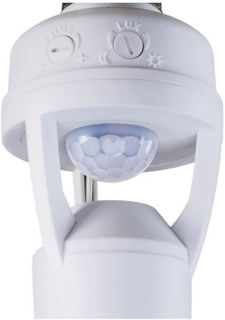 Sensor de Presença Intelbras Interruptor para iluminação com soquete E27 ESP 360 S