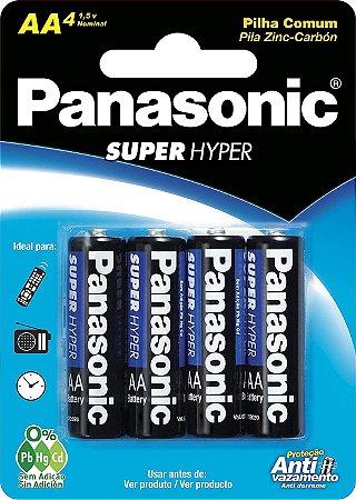 Pilha Aa Panasonic Comum Um-3shs 1,5v - Blister Com 4 Unidades