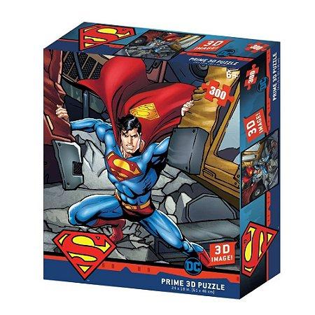 Quebra Cabeça 3D Superman 300 peças – Prime 3D Puzzle Multikids BR1322