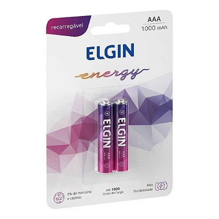 Pilhas Recarregáveis AAA 1000 mAh Blister 2 Unidades - Elgin Energy